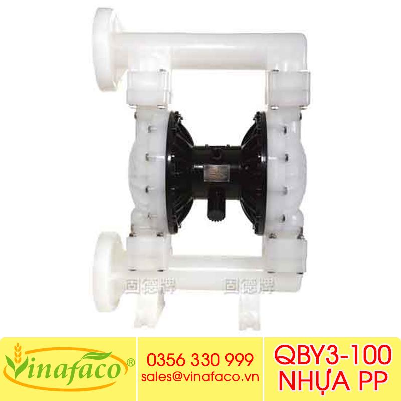 Bơm màng khí nénGODO QBY3-100 NHỰA PP