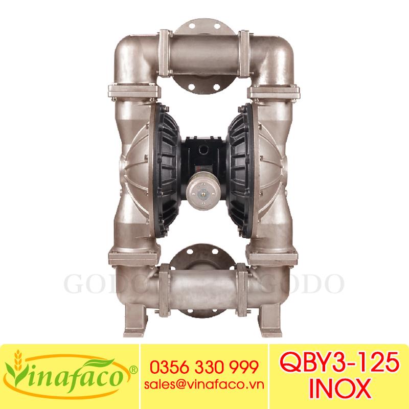 Bơm màng khí nénGODO QBY3-125 INOX