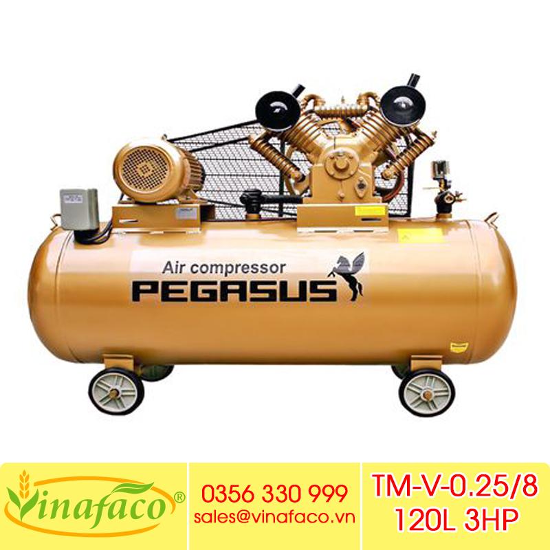 Máy Nén Khí Pegasus TM-V-0.25/8 120L (380V)