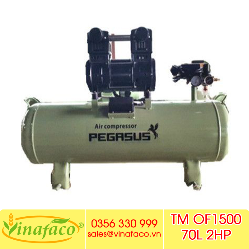 Máy Nén Khí Không Dầu Giá Rẻ Pegasus TM- OF1500- 70L