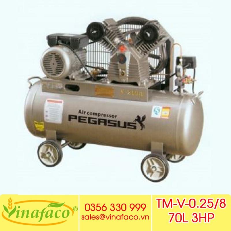 Máy Nén Khí Piston Pegasus TM-V-0.25/8 70L