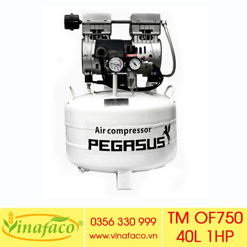 Máy Nén Khí Không Dầu - Giảm Âm Pegasus TM-OF750 40L