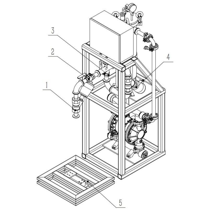 Cấu tạo máy chiết rót BGZ-12